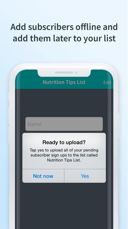 Atom - Subscriber Sign-up App screenshot-3