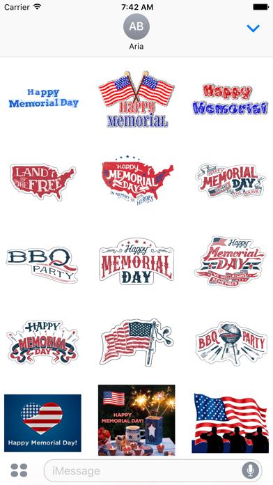 Happy Memorial Day Icons screenshot 2