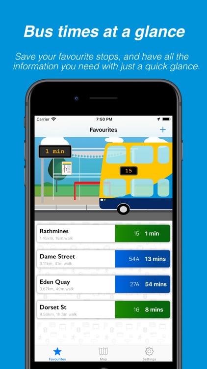 Busasaurus - Dublin bus app screenshot-0