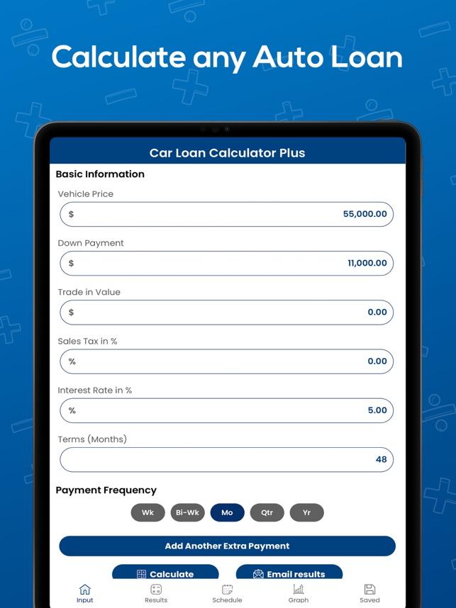 Car Loan Calculator With Extra Payments >> Car Loan Calculator Plus En App Store