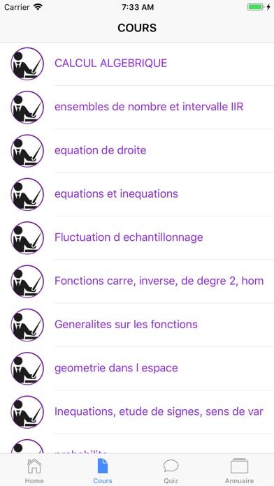 Maths Seconde screenshot 4