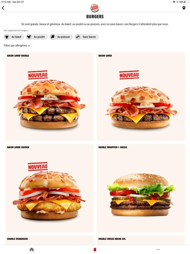 Carte Des Burger King Espagne.Burger King France Dans L App Store