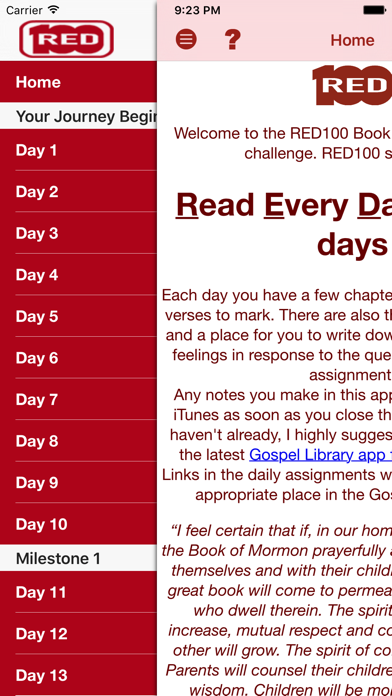 RED100 BoM Reading Challenge