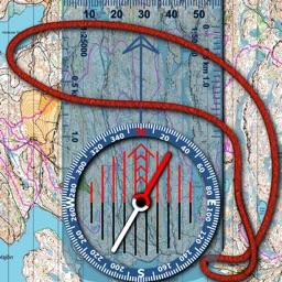 Orienteering Compass & Map