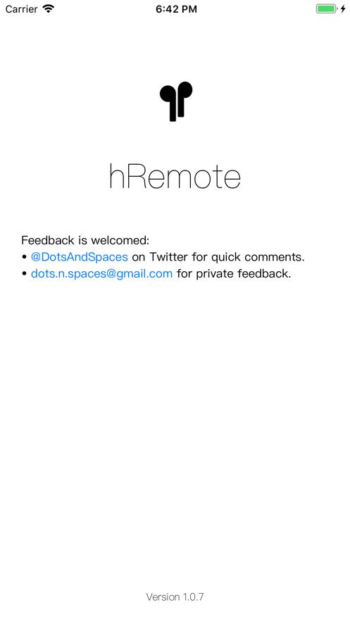 hRemote App 截图