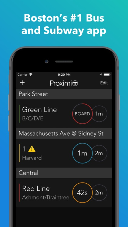 ProximiT: MBTA Bus and Subway