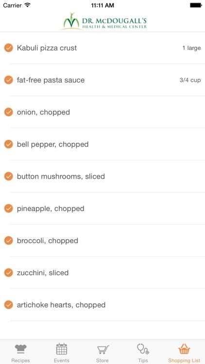 Dr. McDougall Mobile Cookbook screenshot-3