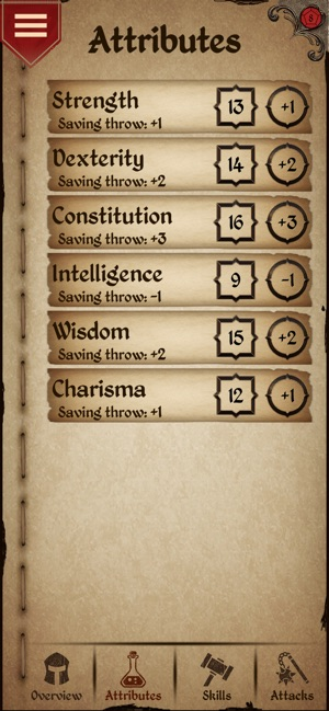 Character Sheet on the App Store