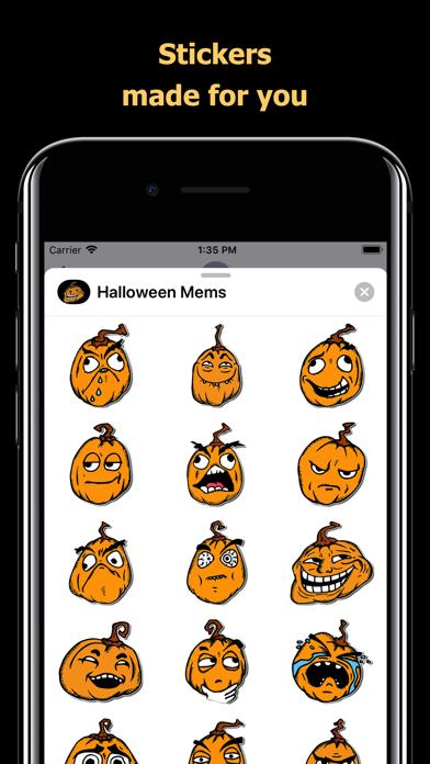 Halloween Mem emoji - pumpkin screenshot 1