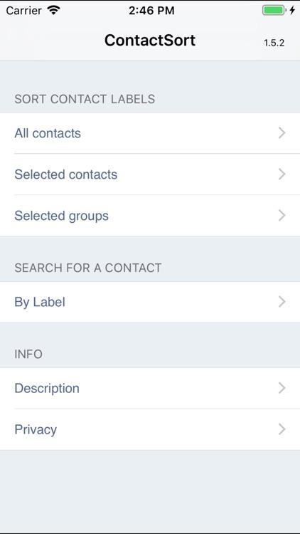 ContactSort
