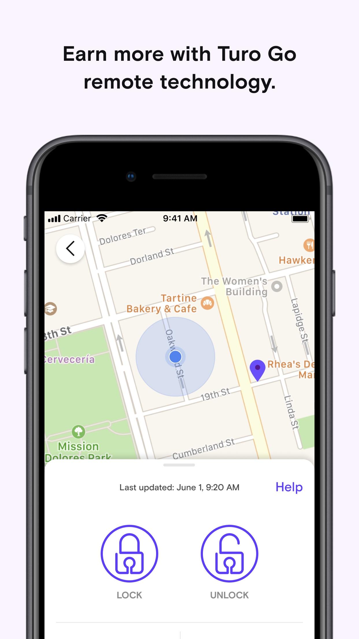 Screenshot do app Turo - Better Than Car Rental