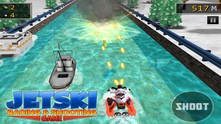 JET SKI RACING SHOOTING GAMES screenshot-4