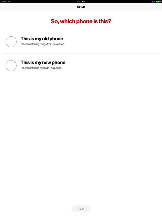 Verizon Content-Transfer on the App Store