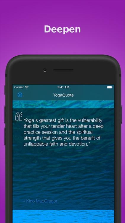 Daily Yoga Quotes  - YogaQuote screenshot-4
