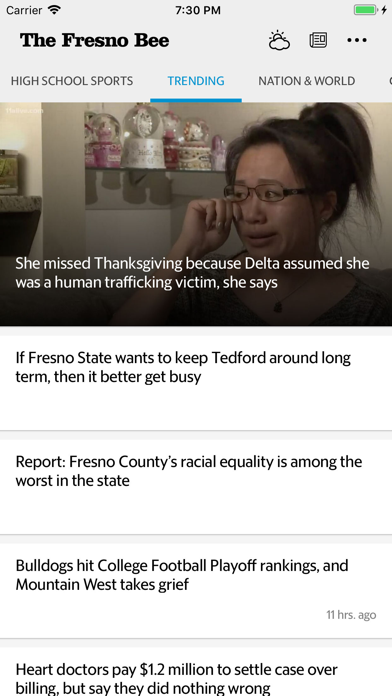 Fresno Bee News Screenshot