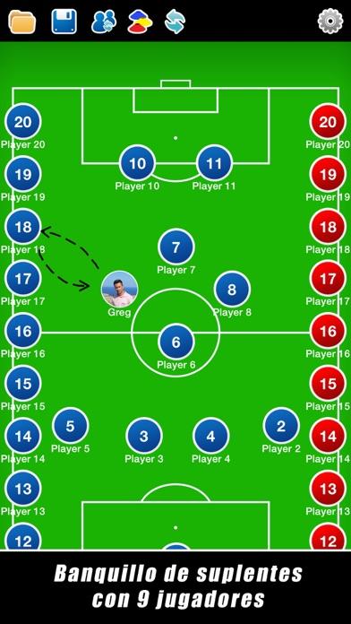 Screenshot for Pizarra Táctica: Fútbol++ in Spain App Store