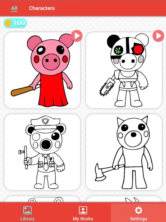 Draw Piggy Coloring Book ! на iPad