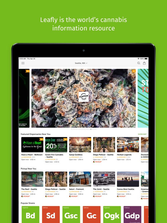 Leafly: Marijuana Reviews on the App Store