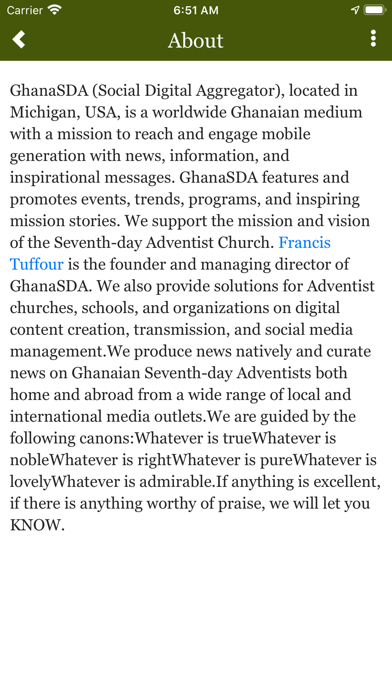 GhanaSDA screenshot two