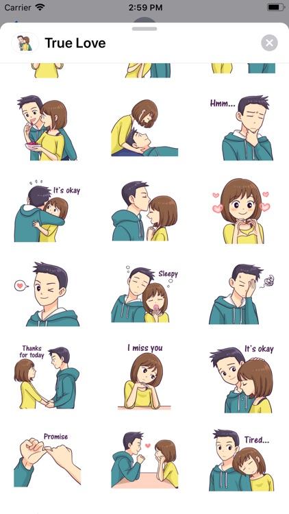 True Love - Stickers