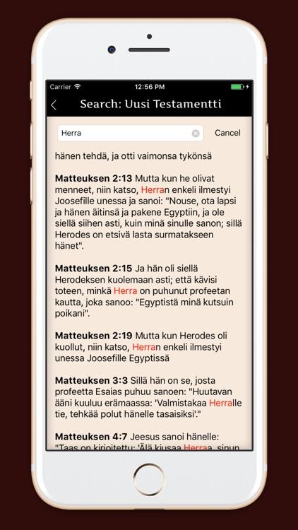 Pyhä Raamattu - Finnish Bible screenshot-4