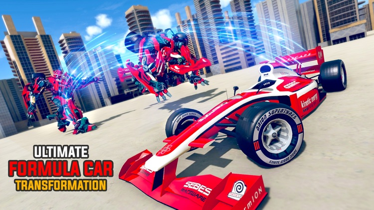 Formula Car Robot Transform screenshot-3