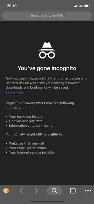 ‎CryptoTab Browser Mobile Screenshot