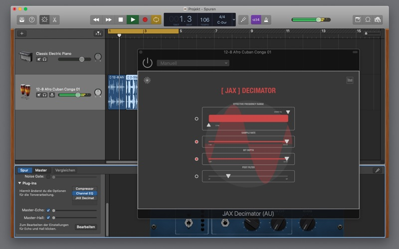 JAX Decimator (Audio Unit) for Mac