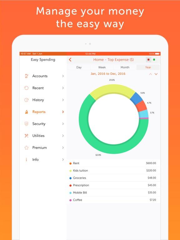 Screenshot #4 pour Easy Spending Expense Tracker