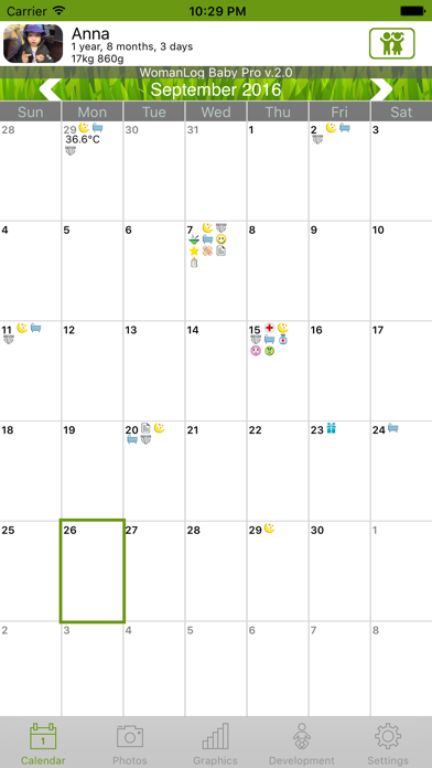 WomanLog Baby Pro Calendarのおすすめ画像1