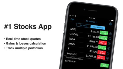 Stocks+ app Screenshot