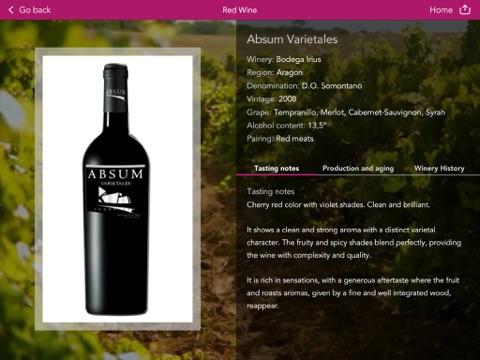 Vinipad Wine List & Food Menu - náhled
