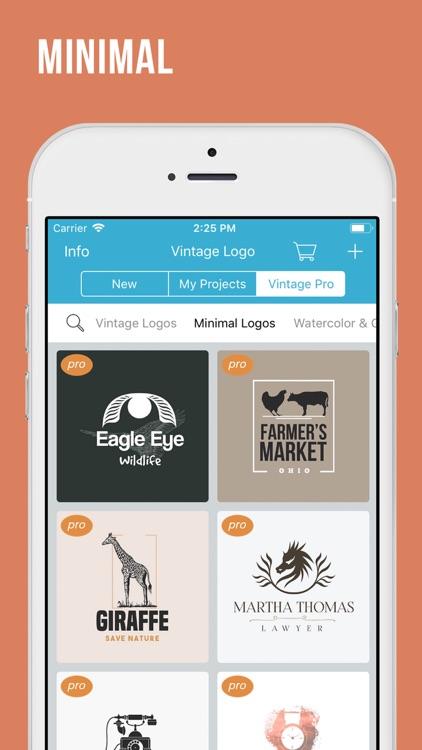 Logo Maker: Vintage Design screenshot-5