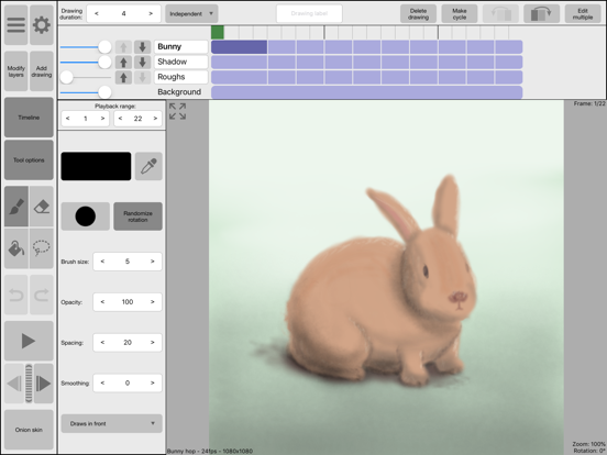 RoughAnimator - animation app Screenshots