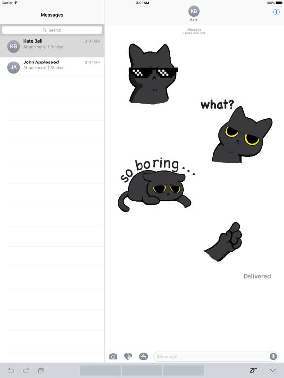 Animated Grumpy Black Cat screenshot 4