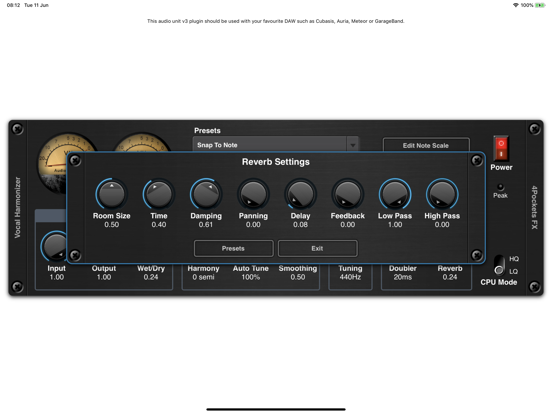 Vocal Harmonizer AUv3 Plugin screenshot 8