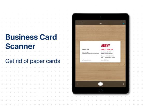 Business Card Reader-ipad-0