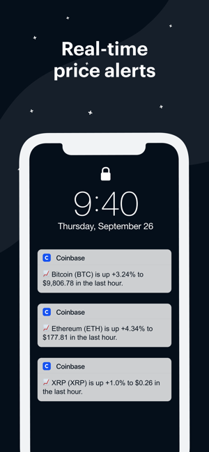 how to recieve alerts on iphone for cryptocurrency prices