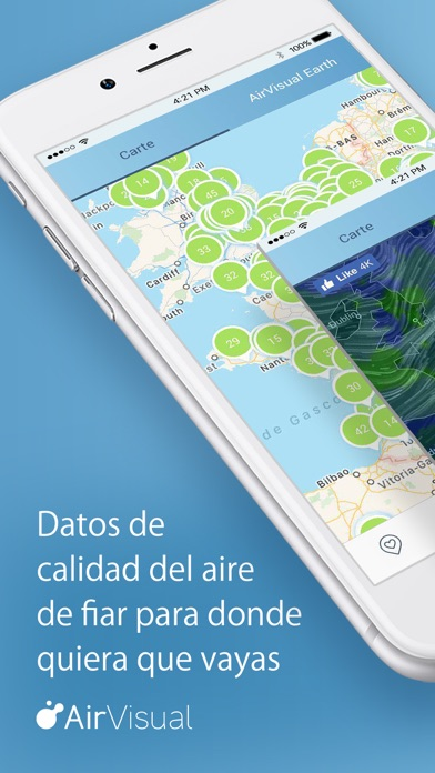 Screenshot for Calidad del Aire | AirVisual in Colombia App Store