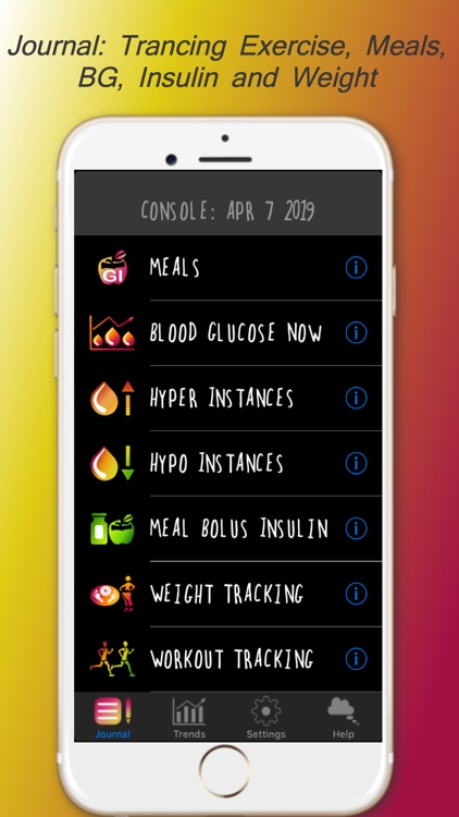 DiaBeatMove-Meal, CGM, Insulin screenshot-0