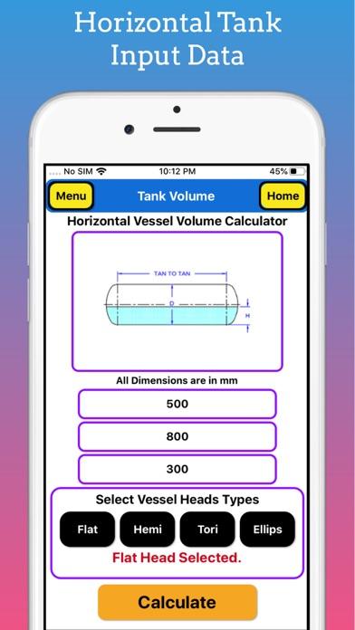 Tank Partial Volume Calculator screenshot 4