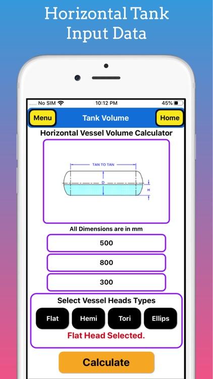 Tank Partial Volume Calculator screenshot-3