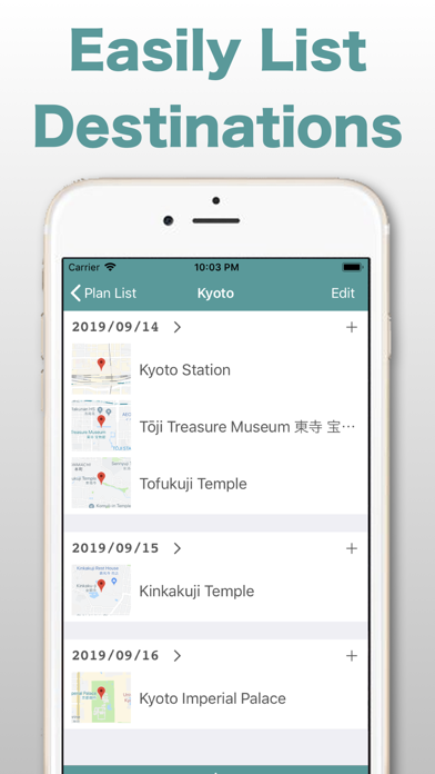 "Destinations List App ""MapiLista"" for business trip or sightseeing screenshot"