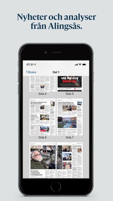 Alingsås Tidning E-tidning på PC