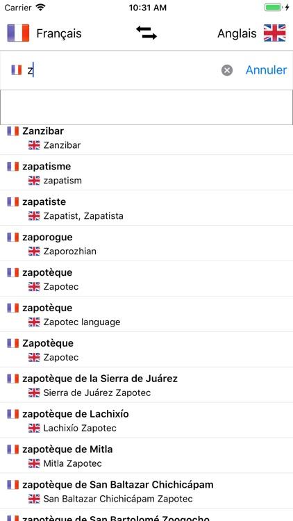Dictionnaire Anglais-Français screenshot-4