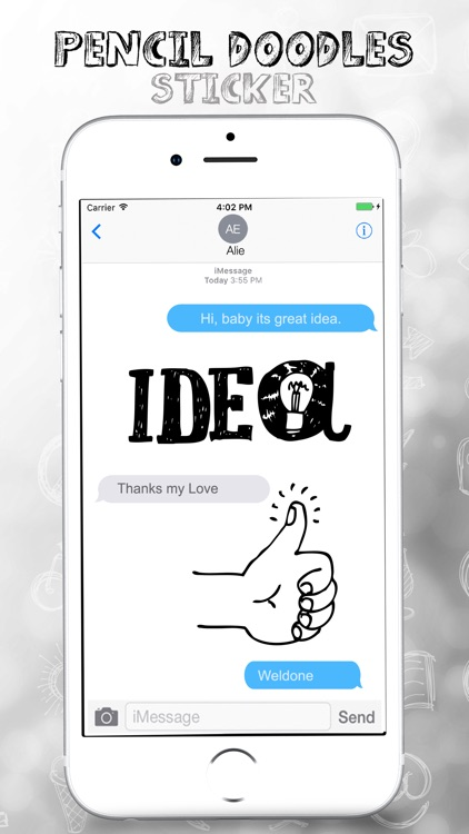 Pencil Doodles Stickers Pack screenshot-3