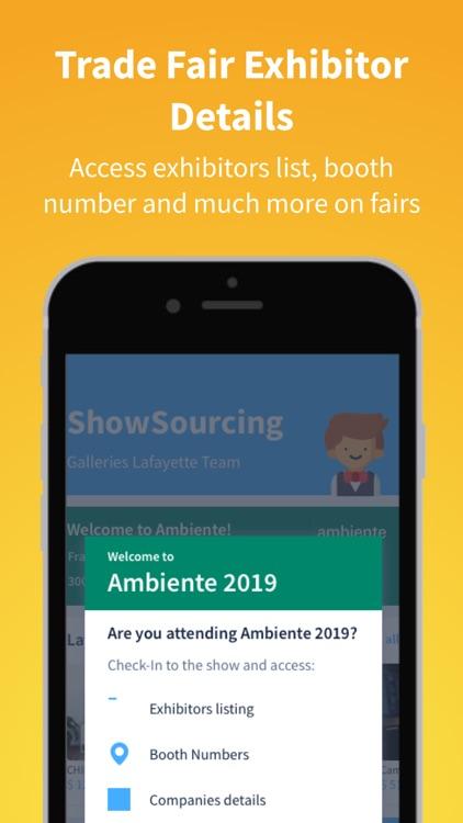 ShowSourcing - Sourcing App screenshot-3
