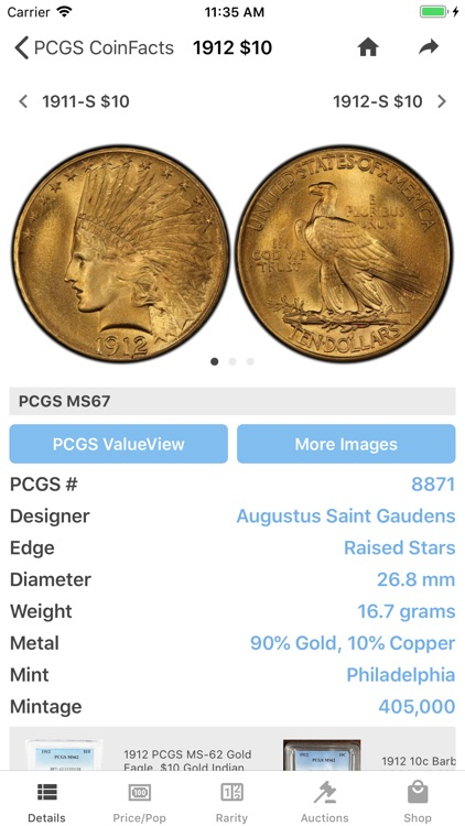 PCGS CoinFacts Coin Collecting