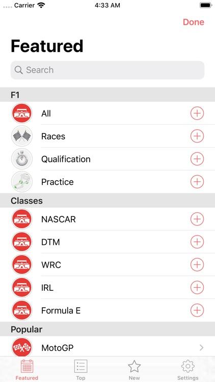 Formula 2020 Schedule screenshot-3
