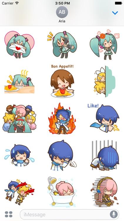 Happy Miku And Gang HD Sticker screenshot-3